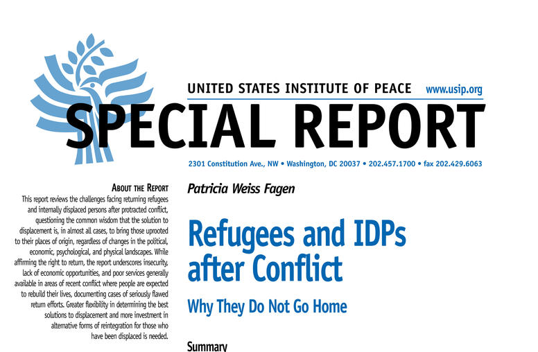 Refugees and IDPs after Conflict