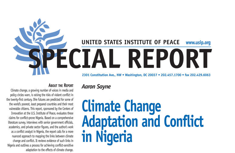 Climate Change Adaptation and Conflict in Nigeria