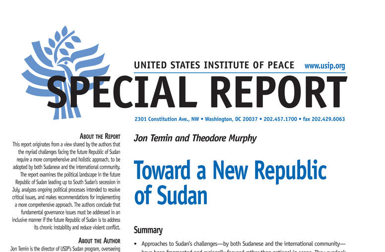 Toward a New Republic of Sudan