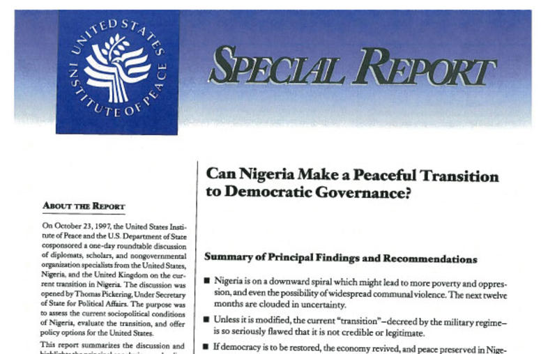 Can Nigeria Make a Peaceful Transition to Democratic Governance?