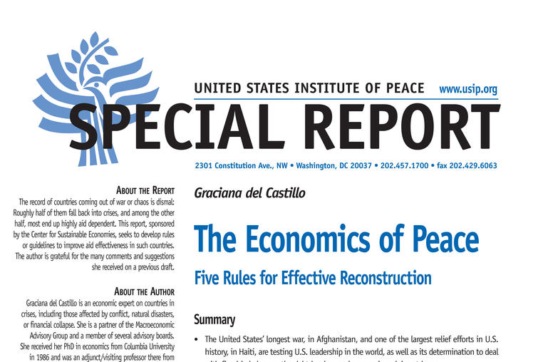 The Economics of Peace
