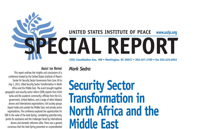 Security Sector Transformation in North Africa and the Middle East