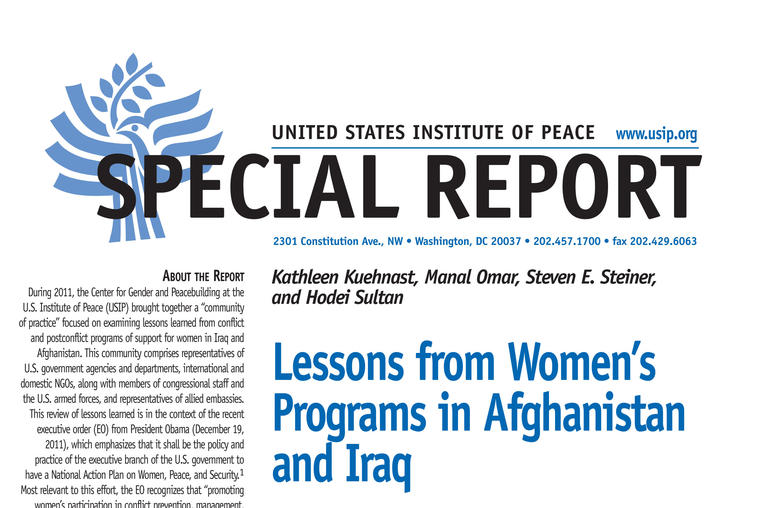 Lessons from Women's Programs in Afghanistan and Iraq