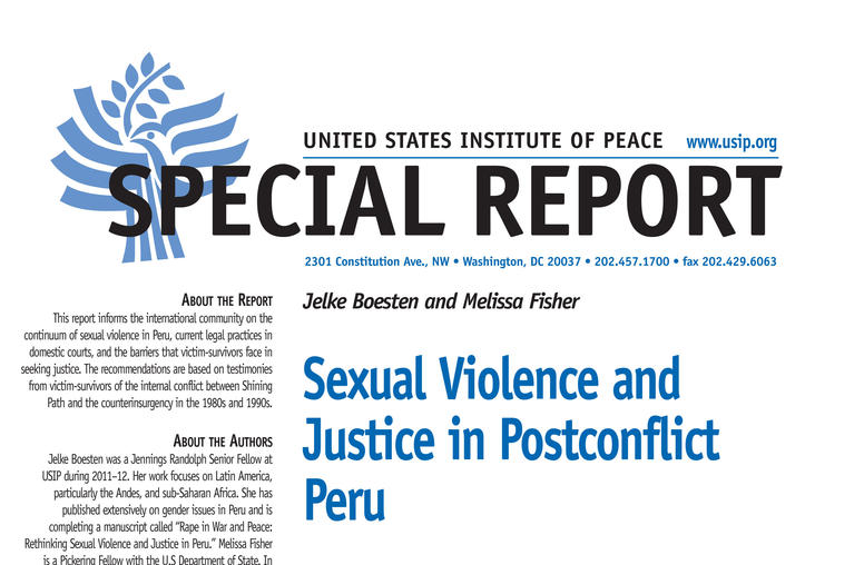 Sexual Violence and Justice in Postconflict Peru