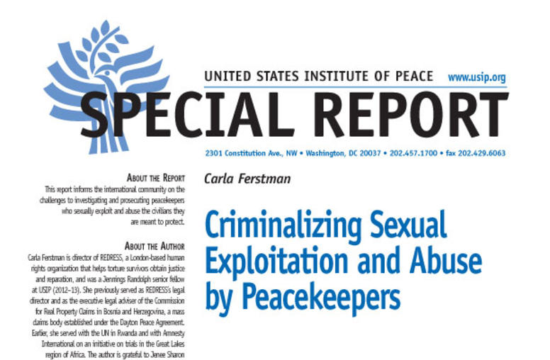 Criminalizing Sexual Exploitation and Abuse by Peacekeepers