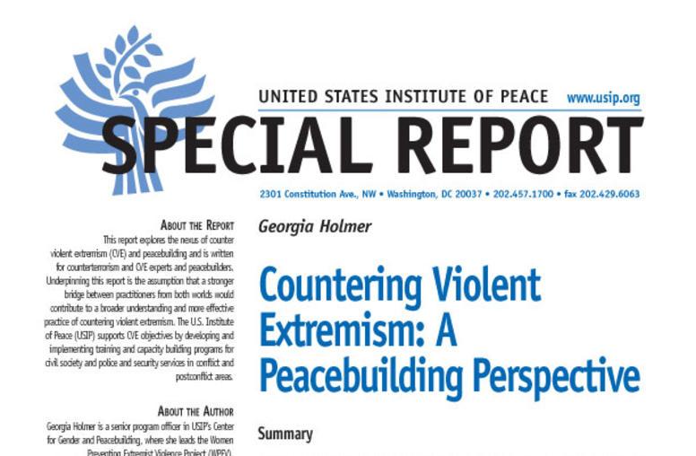 Countering Violent Extremism: A Peacebuilding Perspective