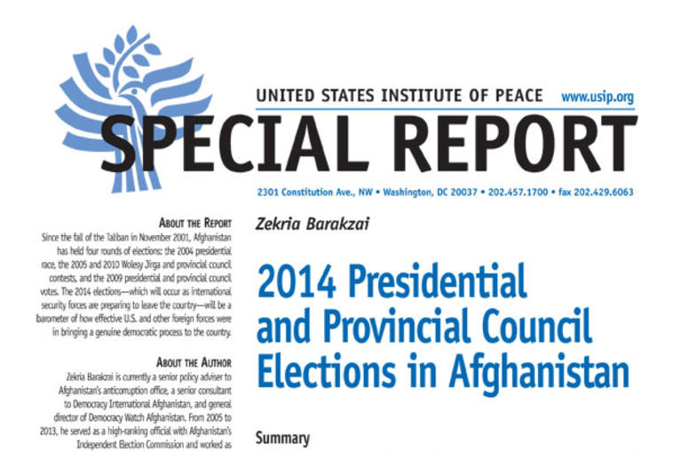 2014 Presidential and Provincial Council Elections in Afghanistan