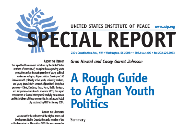 A Rough Guide to Afghan Youth Politics