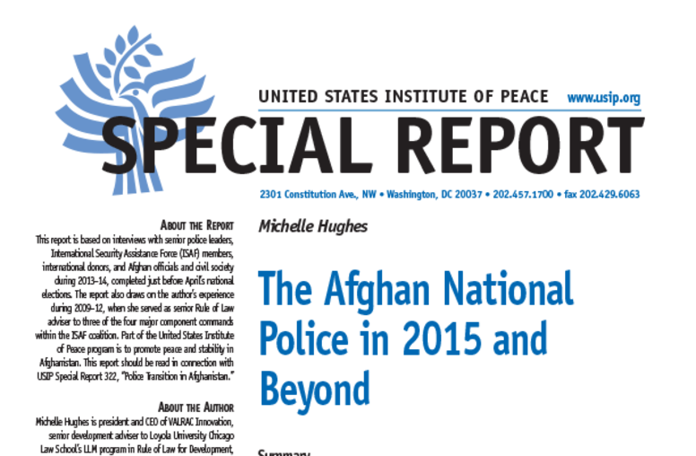 The Afghan National Police in 2015 and Beyond