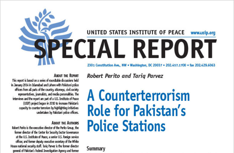 A Counterterrorism Role for Pakistan's Police Stations