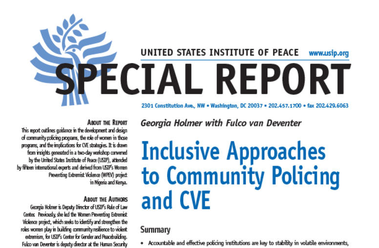 Inclusive Approaches to Community Policing and CVE