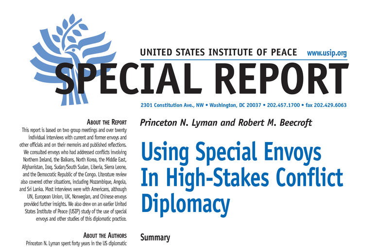 Using Special Envoys In High-Stakes Conflict Diplomacy