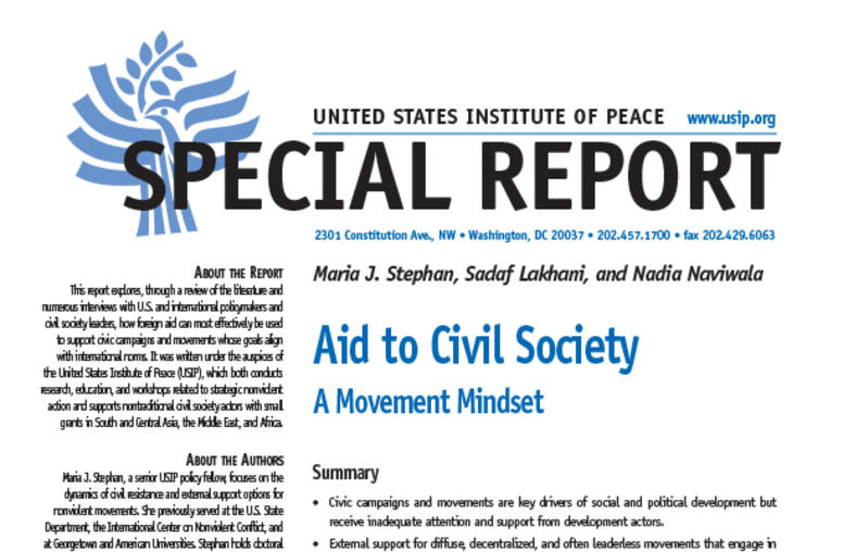 Aid to Civil Society: A Movement Mindset