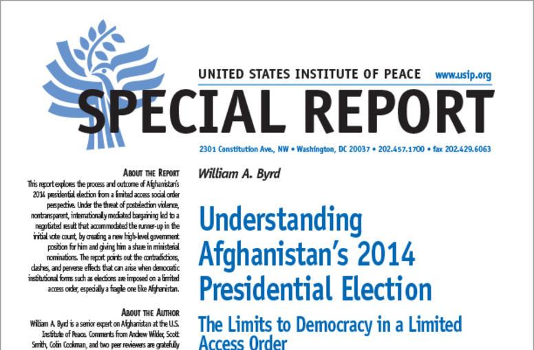 Understanding Afghanistan's 2014 Presidential Election
