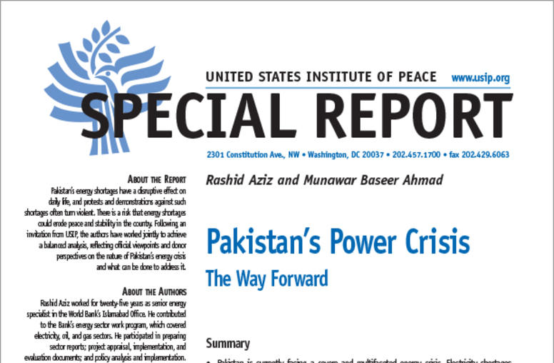 Pakistan's Power Crisis: The Way Forward