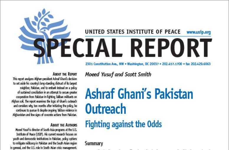Ashraf Ghani's Pakistan Outreach