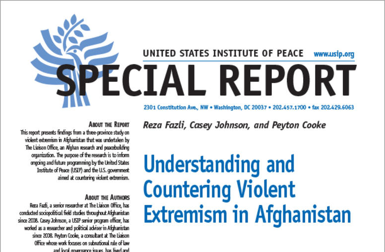 Understanding and Countering Violent Extremism in Afghanistan