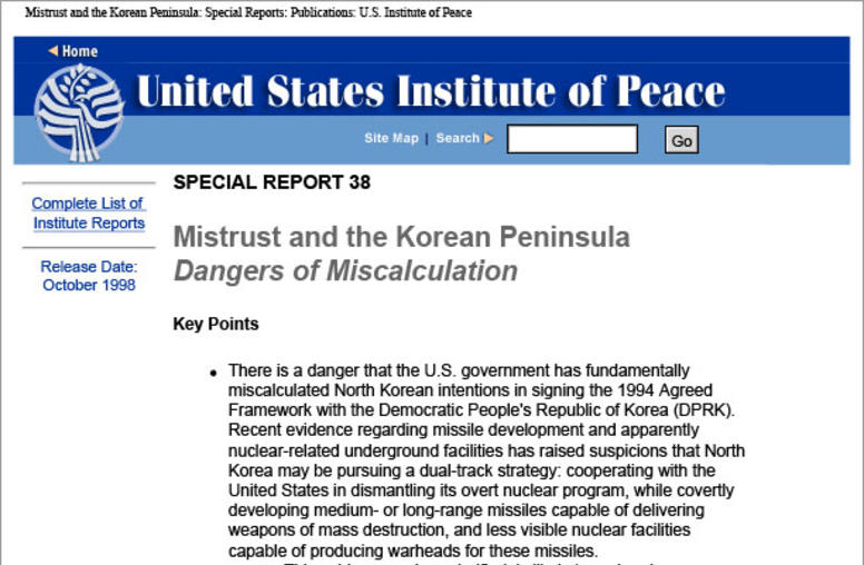 Mistrust and the Korean Peninsula: Dangers of Miscalculation