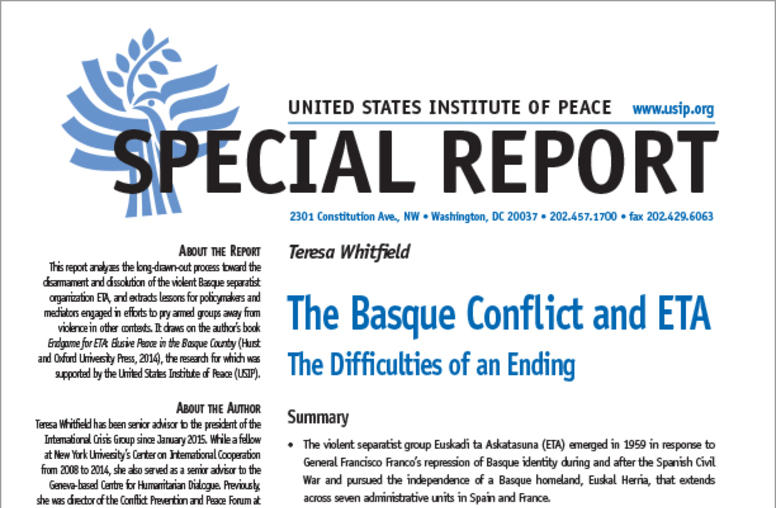 The Basque Conflict and ETA: The Difficulties of an Ending