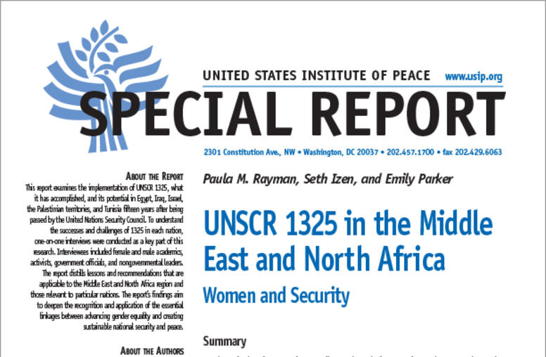 UNSCR 1325 in the Middle East and North Africa: Women and Security