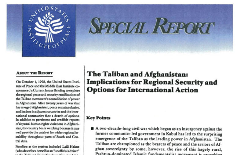 The Taliban and Afghanistan: Implications for Regional Security and Options for International Action