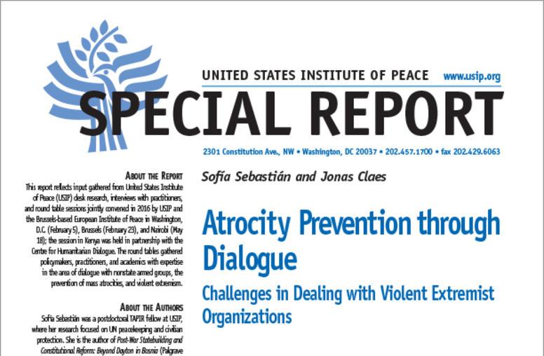 Atrocity Prevention through Dialogue