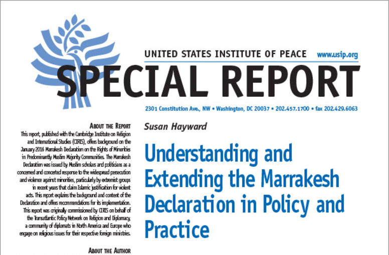 Understanding and Extending the Marrakesh Declaration in Policy and Practice
