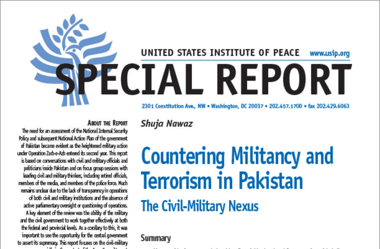 Countering Militancy and Terrorism in Pakistan: The Civil-Military Nexus