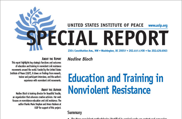 Education and Training in Nonviolent Resistance