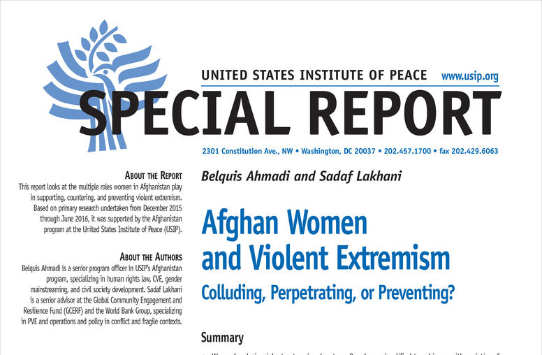 Afghan Women and Violent Extremism