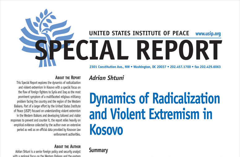 Dynamics of Radicalization and Violent Extremism in Kosovo