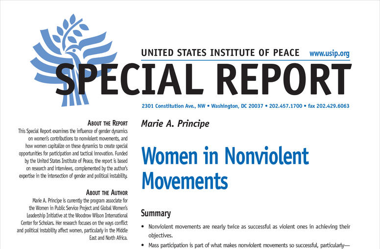 Women in Nonviolent Movements