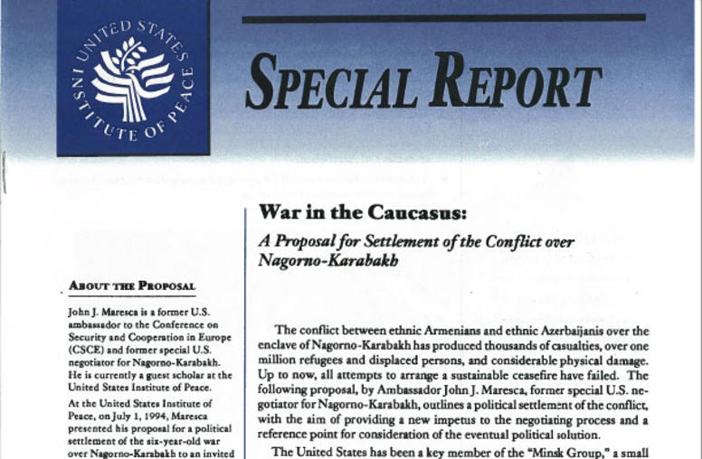 War in the Caucasus: A Proposal for Settlement of the Conflict over Nagorno-Karabakh