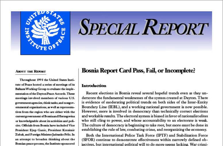 Bosnia Report Card: Pass, Fail, or Incomplete?