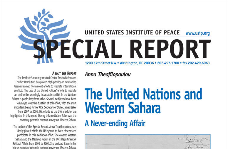 The United Nations and Western Sahara: A Never-ending Affair