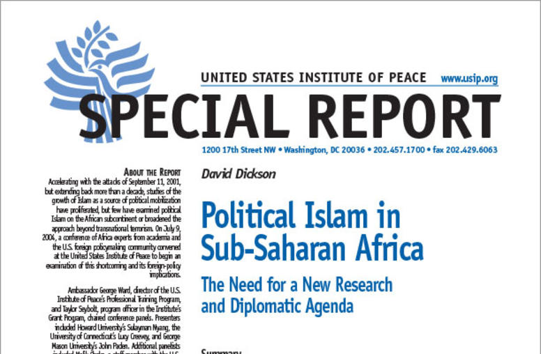 Political Islam in Sub-Saharan Africa: The Need for a New Research and Diplomatic Agenda