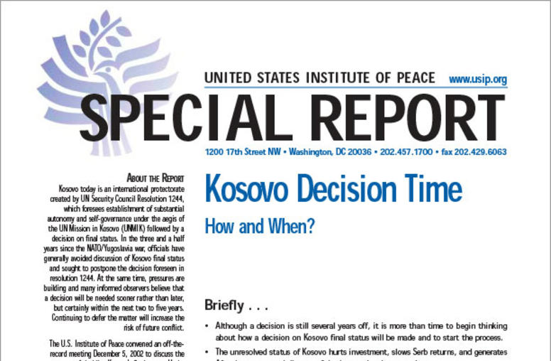 Kosovo Decision Time: How and When?