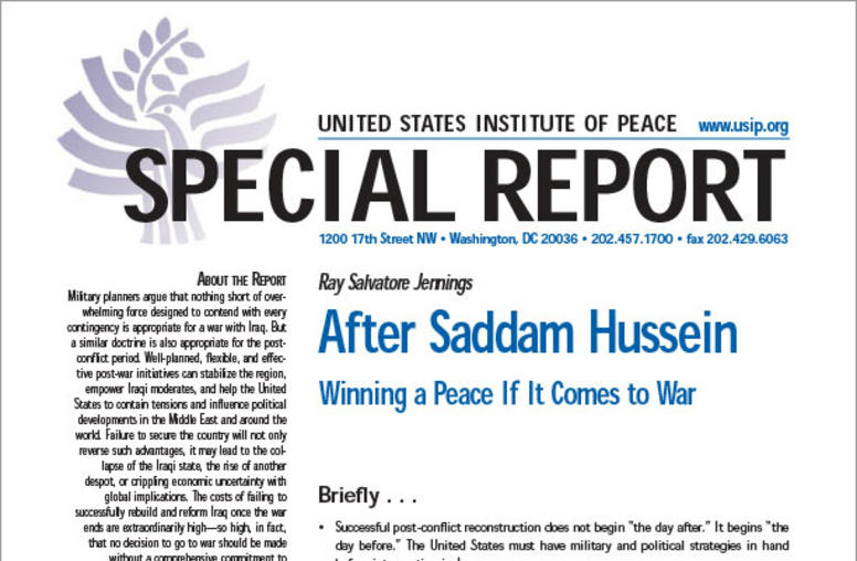 After Saddam Hussein: Winning a Peace If It Comes to War