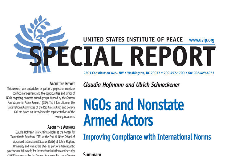 NGOs and Nonstate Armed Actors