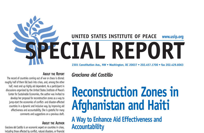 Reconstruction Zones in Afghanistan and Haiti