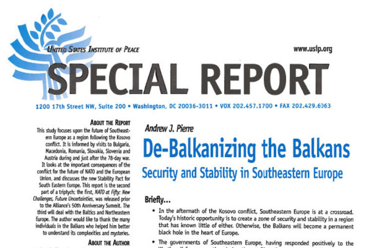 De-Balkanizing the Balkans: Security and Stability in Southeastern Europe