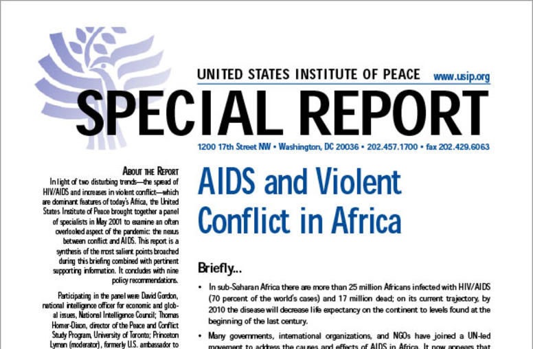 AIDS and Violent Conflict in Africa
