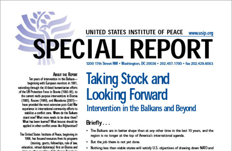 Taking Stock and Looking Forward: Intervention in the Balkans and Beyond