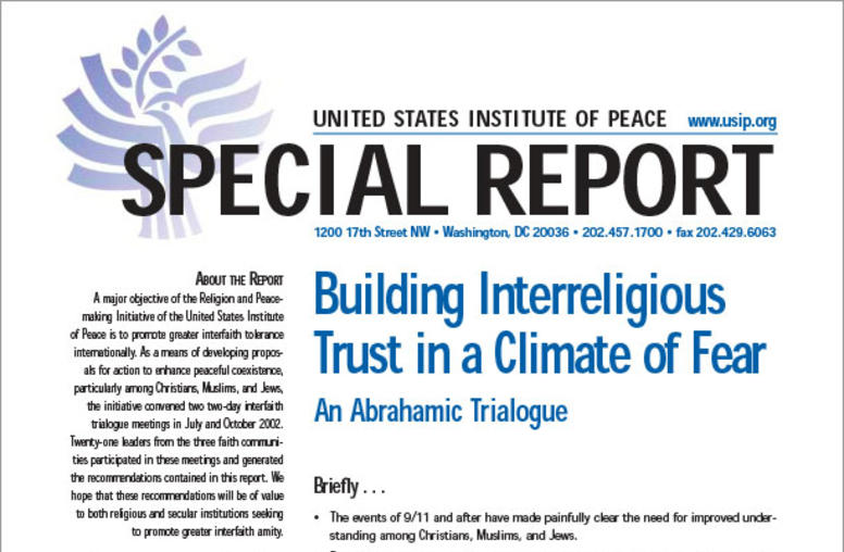 Building Interreligious Trust in a Climate of Fear: An Abrahamic Trialogue