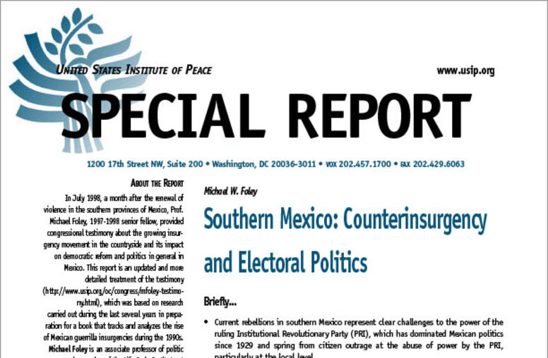 Southern Mexico: Counterinsurgency and Electoral Politics