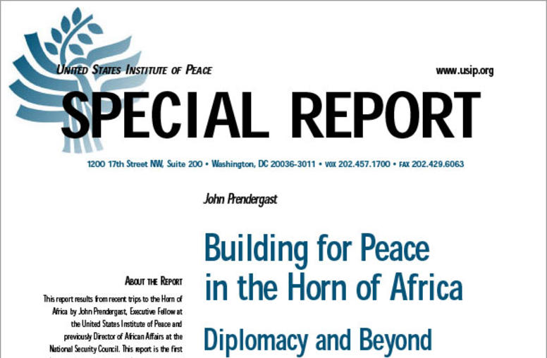 Building for Peace in the Horn of Africa: Diplomacy and Beyond